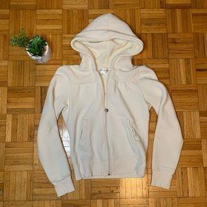 Wooly Girls Super Comfy White Zip Up Hoodie